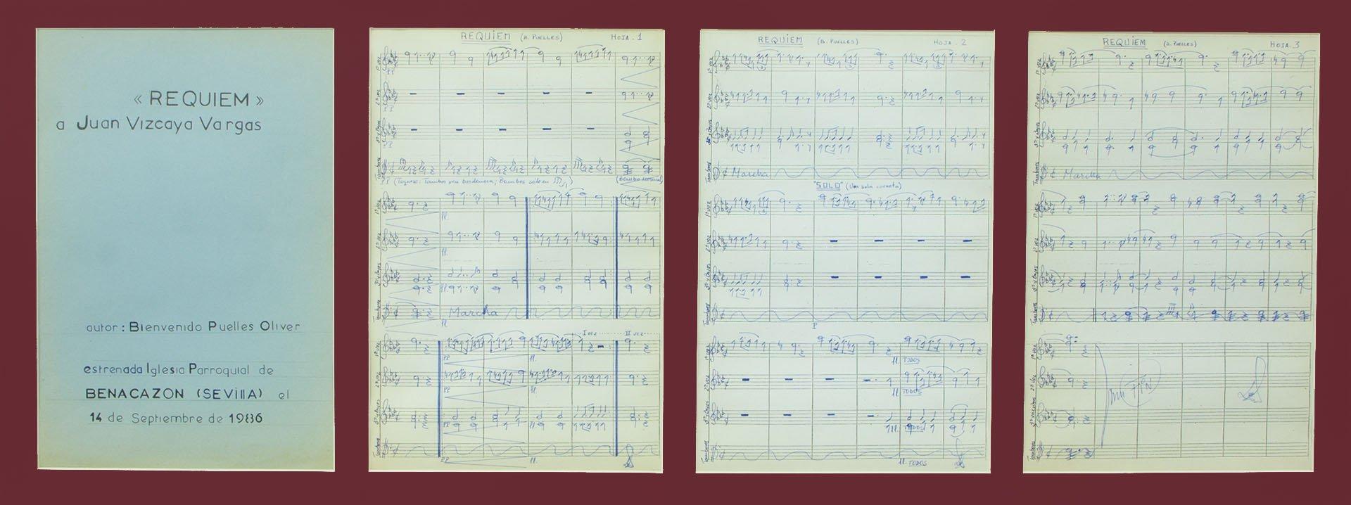 Partituras originales de Réquiem