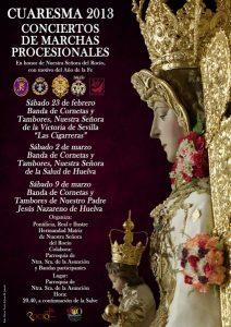 Cartel del Concierto de Las Cigarreras ante la Virgen del Rocío