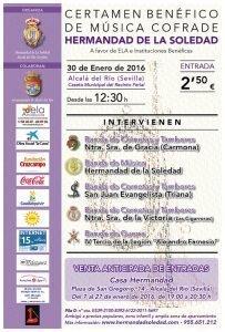 Cartel del Certamen en Alcalá del Río 2016