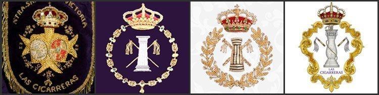 Evolución de los escudos de Las Cigarreras