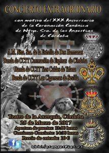 Cartel del Concierto en Córdoba 2017
