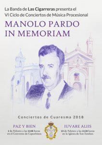 Cartel del VI Ciclo de Conciertos Manolo Pardo, obra de Paula Arquero