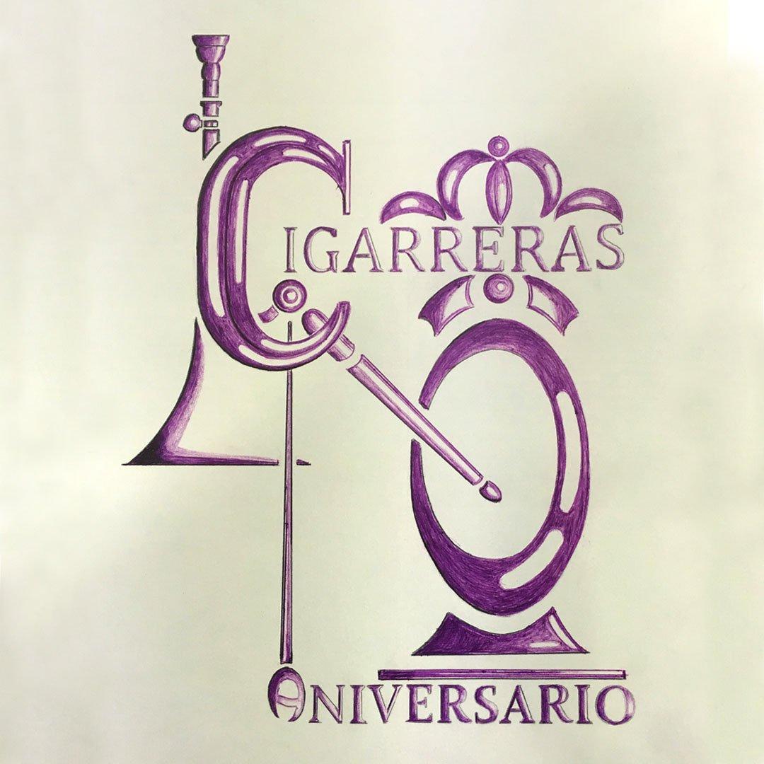 Boceto del logo del 40º Aniversario de Las Cigarreras