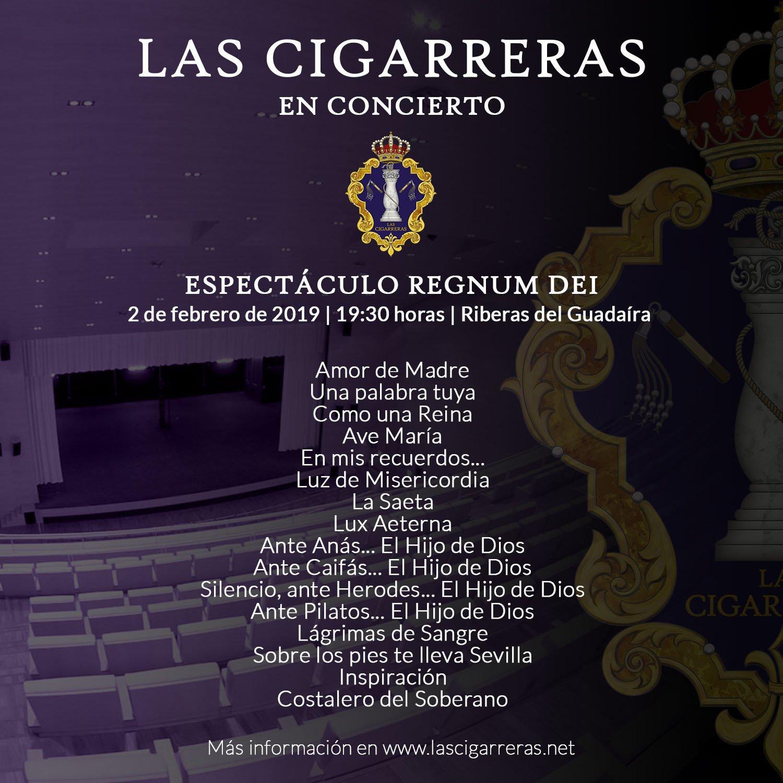 Repertorio del espectáculo Regnum Dei en Alcalá de Guadaíra