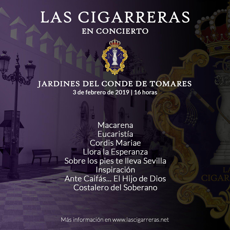 Repertorio de Las Cigarreras en Tomares Pasión 2019