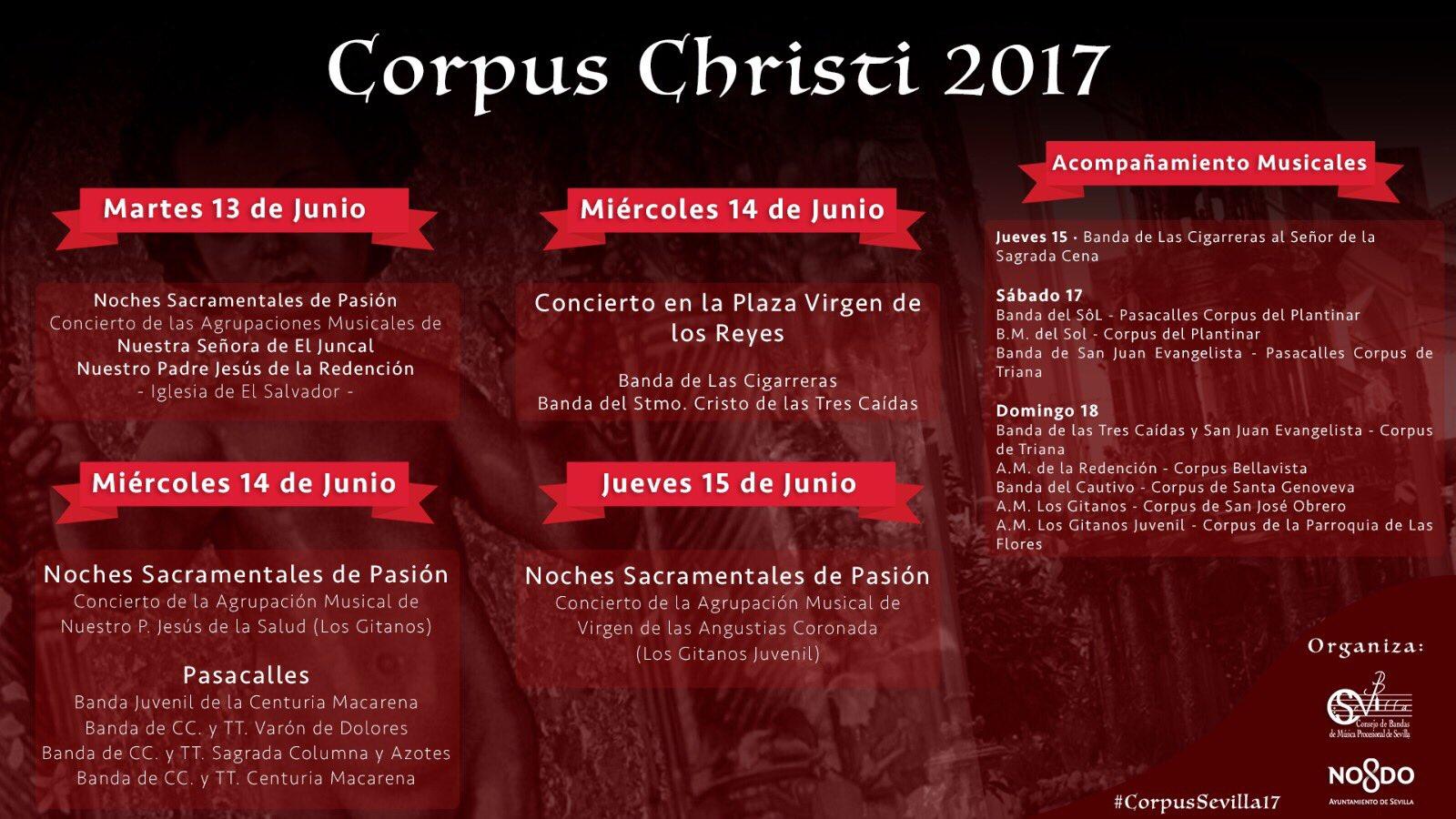 Nuestro Corpus 2017: Concierto en la víspera y procesión en la Cena