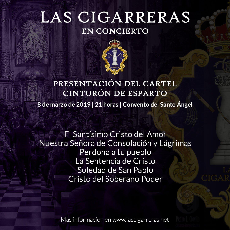 Repertorio de Las Cigarreras en la Presentación del Cartel Cinturón de Esparto 2019.