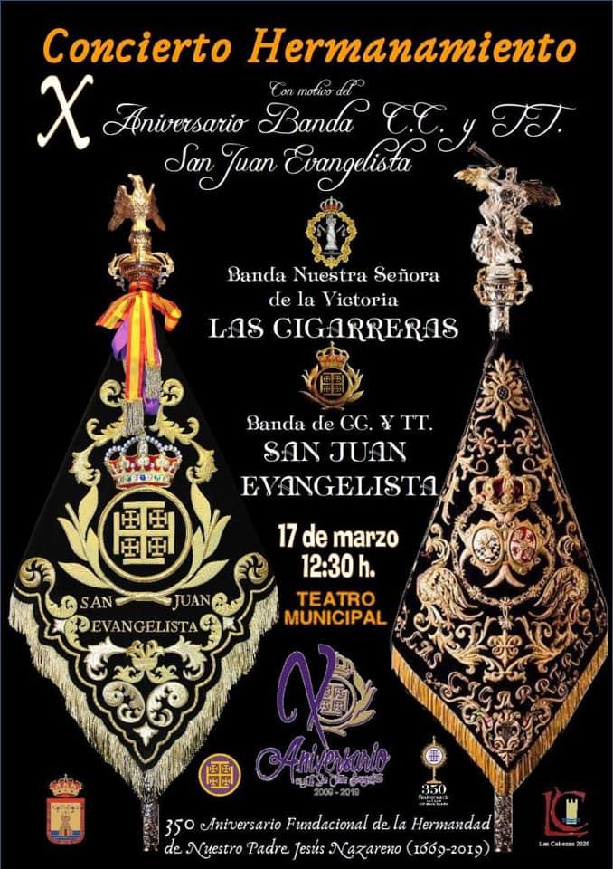 Cartel del concierto de Las Cigarreras en las Cabezas de San Juan