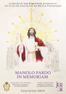 Cartel del VII Ciclo de Conciertos Manolo Pardo, obra de Paula Arquero