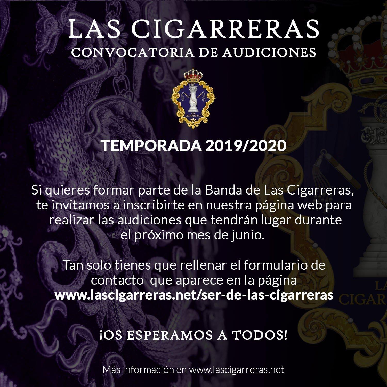 Audiciones Las Cigarreras 2019 - 2020