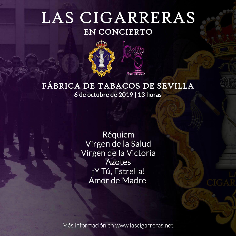 Repertorio del Concierto de Las Cigarreras y sus antiguos componentes en la Fábrica de Tabacos