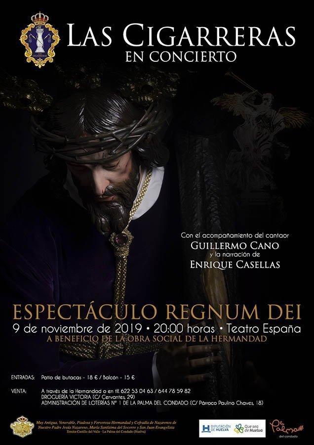 Cartel del espectáculo Regnum Dei en La Palma del Condado 2019 | Las Cigarreras