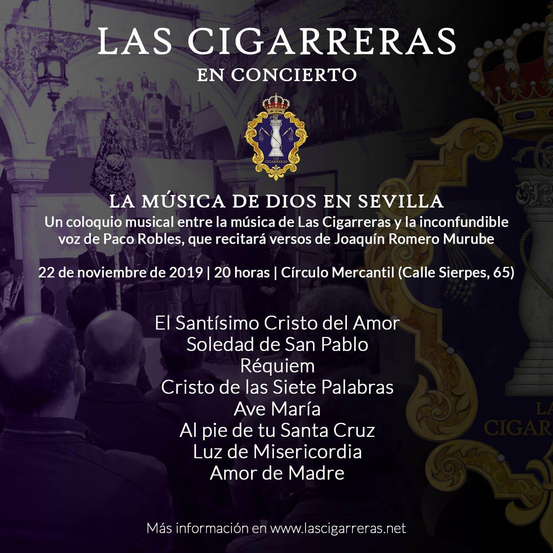 Repertorio del acto La Música de Dios en Sevilla