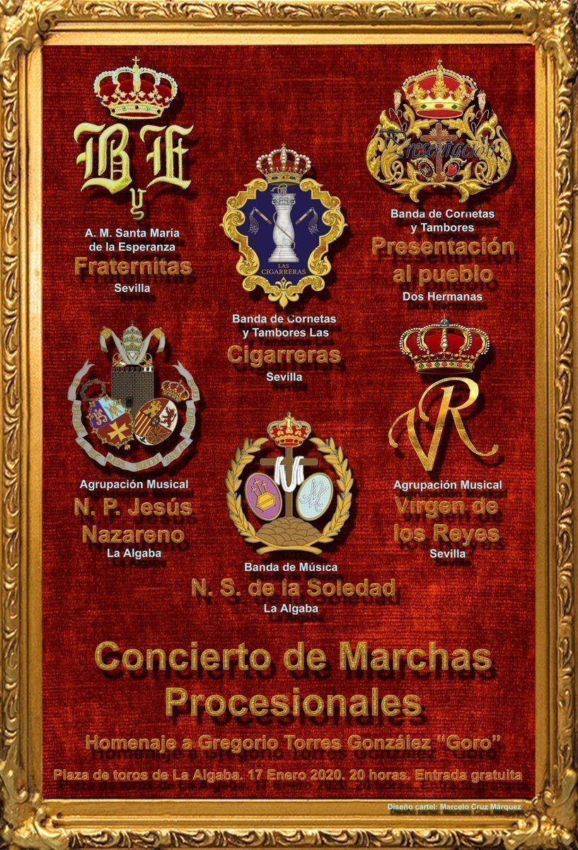 Cartel del Certamen Homenaje a «Goro» en la Algaba