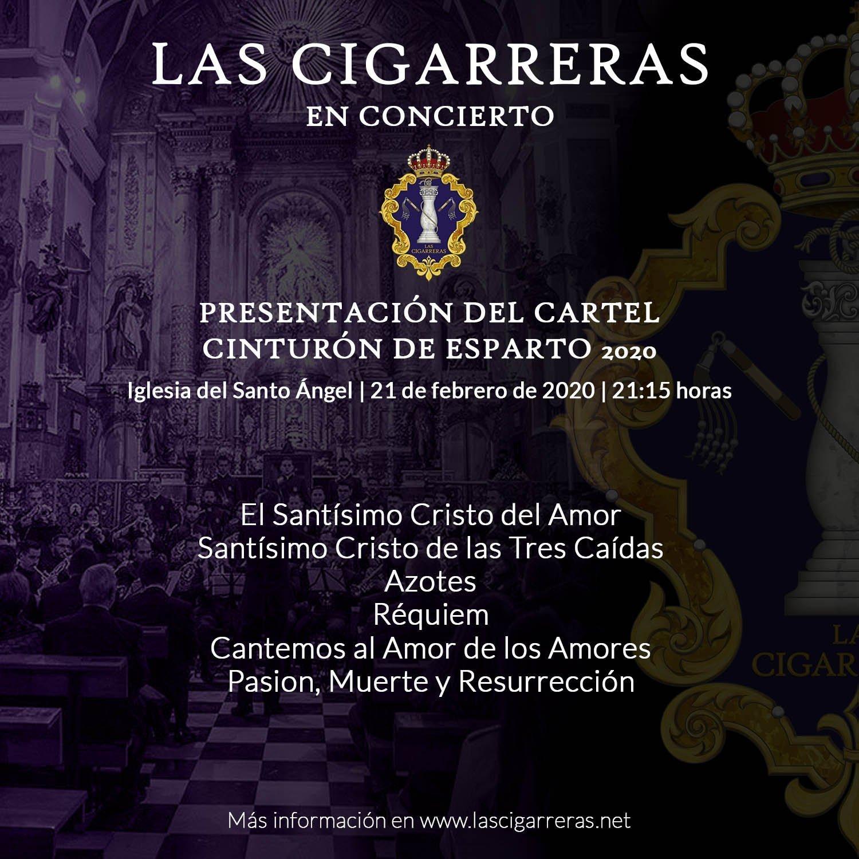 Repertorio de Las Cigarreras en la presentación del cartel Cinturón de Esparto 2020
