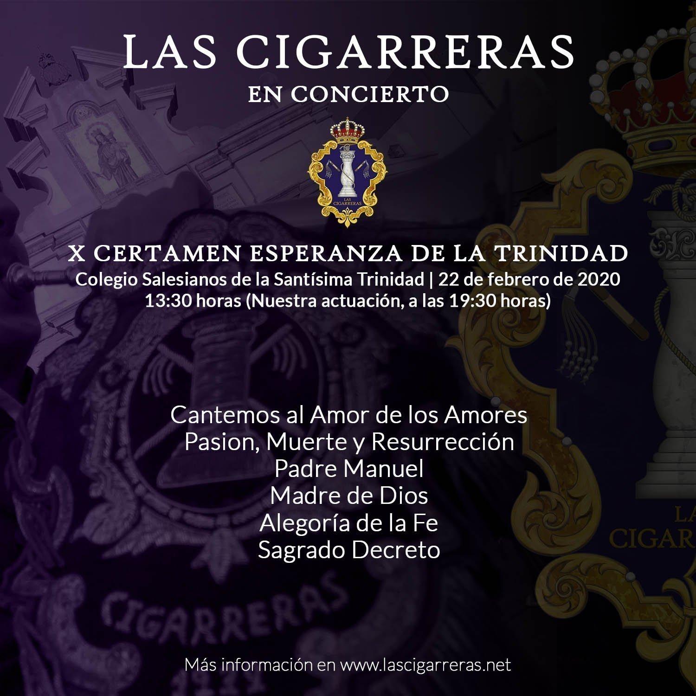 Repertorio de Las Cigarreras en el Certamen de la Trinidad 2020