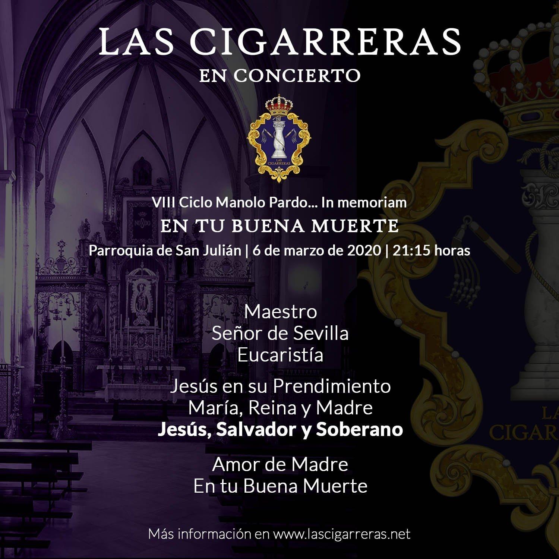 Repertorio de Las Cigarreras en el Concierto en San Julián 2020