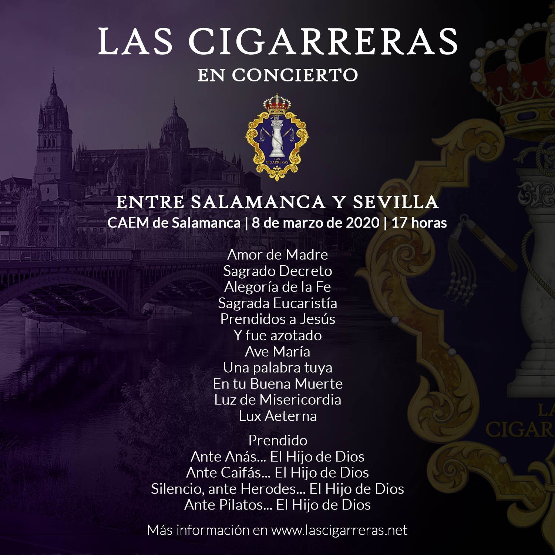 Repertorio del Concierto de Las Cigarreras en Salamanca 2020