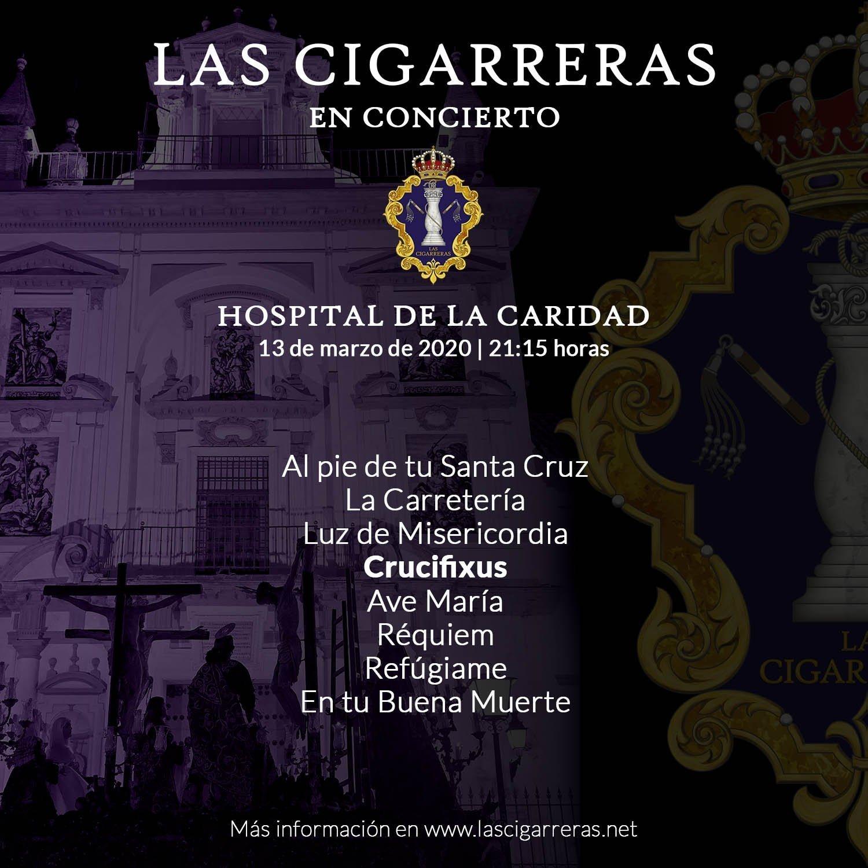 Repertorio del Concierto de Las Cigarreras en el Hospital de la Caridad 2020