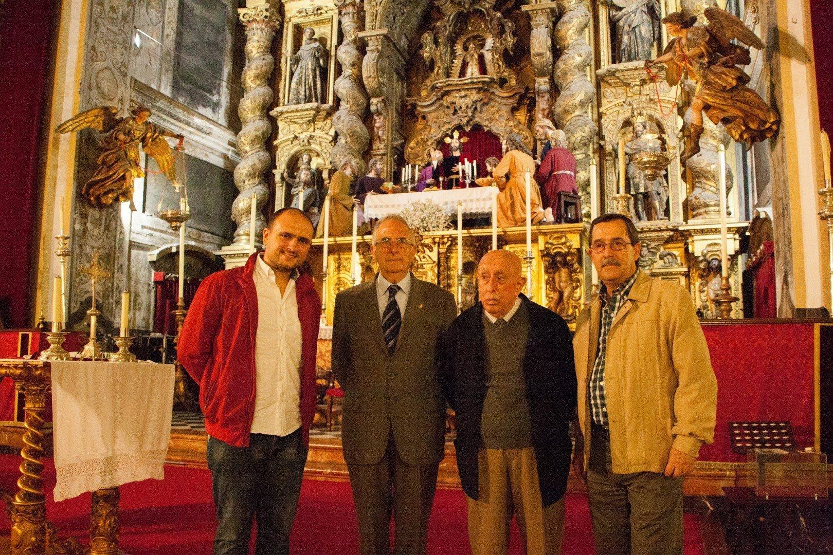 Juanjo Dorado con Fernando Vega, Juan Palacio y Pablo Gálvez.