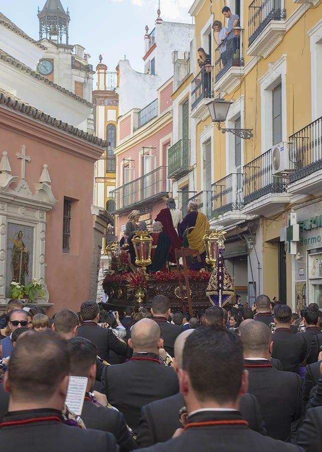 Domingo de Ramos 2016 tras la Hermandad de la Cena