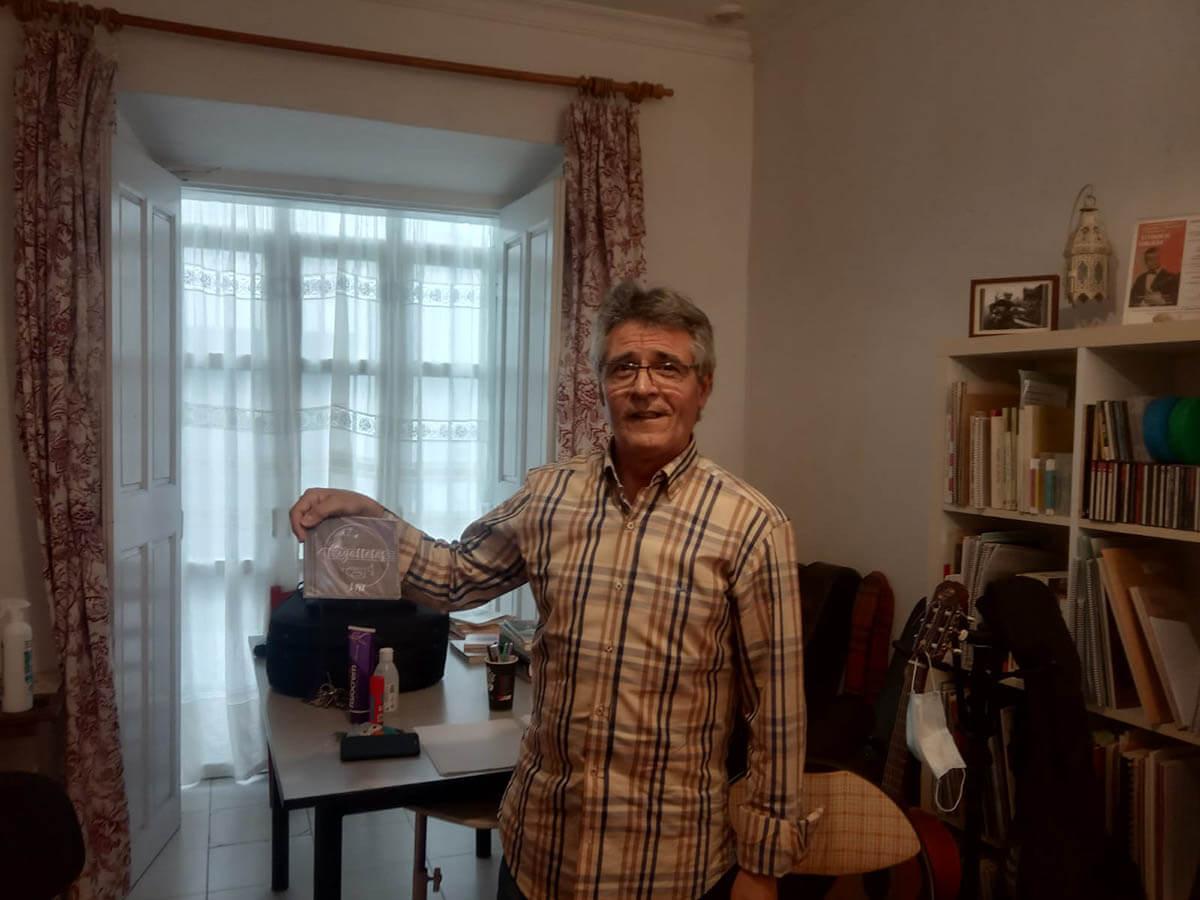 José Antonio Martínez, de Salmarina, con el disco #LLenaEresDeMúsica